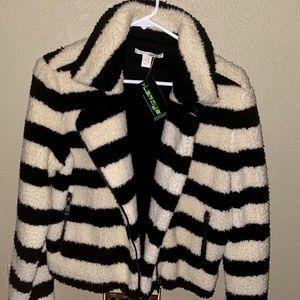 Amuse Society Ultra-soft Cropped Zip-up Jacket L